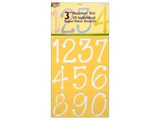 Wood Back To School: Delta Number Stencil Mania 3 in. Super Value Just Numbers