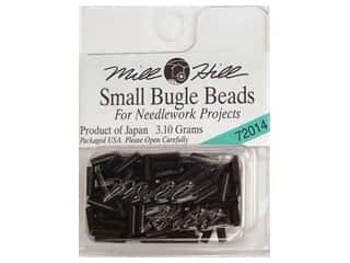 Beads Black: Millhill Bugle Bead Small Black