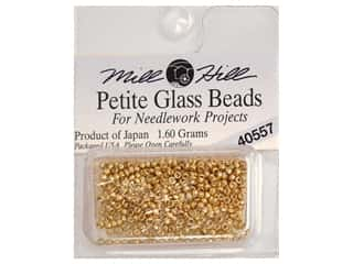 Glass Beads: Millhill Petite Glass Bead Gold