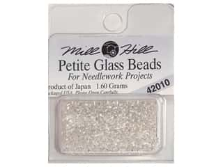 Glasses Beading & Jewelry Making Supplies: Millhill Petite Glass Bead Ice