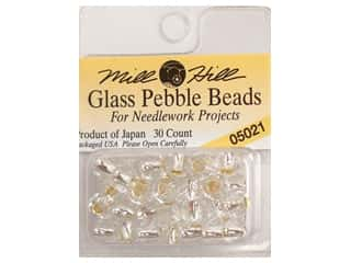 Mill Hill Mill Hill Pkg Pebble Beads 30pc: Mill Hill Pkg Pebble Beads 30 pc Silver