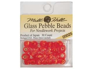 Mill Hill Pkg Pebble Beads 30 pc Ruby