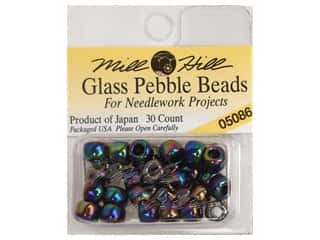 Mill Hill Mill Hill Pkg Pebble Beads 30pc: Mill Hill Pkg Pebble Beads 30 pc Midnight Rainbow