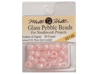 Mill Hill Pkg Pebble Beads 30 pc Pale Pink