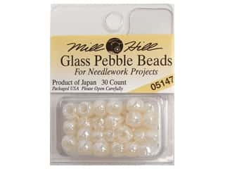 Mill Hill Pkg Pebble Beads 30 pc Oriental Pearl