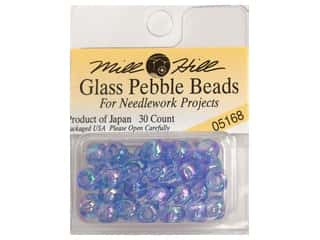 Mill Hill Mill Hill Pkg Pebble Beads 30pc: Mill Hill Pkg Pebble Beads 30 pc Sapphire