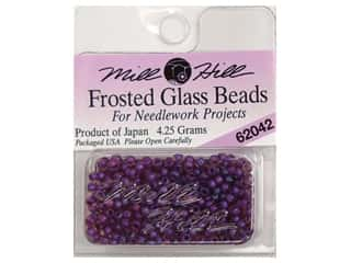 11/0 Glass Seed Beads by Mill Hill  Frosted Royal Purple