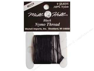 Threads Black: Millhill Nymo Thread 9 yd Black