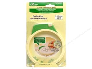 fabric embroidery hoop: Clover Embroidery Stitching Hoop 4.75""