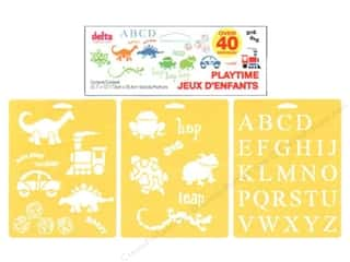 Clearance Blumenthal Favorite Findings: Delta Stencil Mania Value Pack Playtime 3 pc.