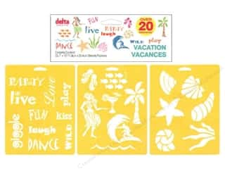 Delta Stencil Mania Value Pack Vacation 3pc