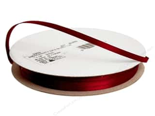 "Offray Offray Ribbon Doubleface Satin 1/8"": Offray Ribbon Doubleface Satin 1/8 in. 30 yd Burgundy (30 yards)"