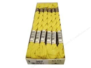 Pearl Cotton $16 - $17: DMC Pearl Cotton Skein Size 3 #307 Lemon (12 skeins)