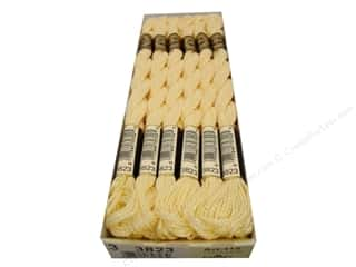 DMC Pearl Cotton Skein Size 3 #3823 Ultra Light Pale Yellow (12 skeins)