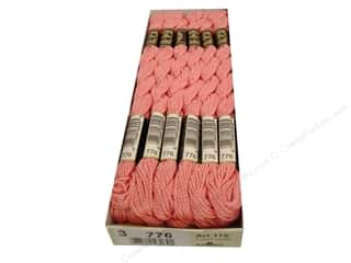 Pearl Cotton $16 - $17: DMC Pearl Cotton Skein Size 3 #776 Medium Pink (12 skeins)