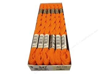Pearl Cotton $16 - $17: DMC Pearl Cotton Skein Size 3 #947 Burnt Orange (12 skeins)