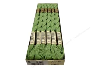 DMC Pearl Cotton Skein Size 5 #368 Nile Green (12 skeins)