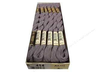 DMC Pearl Cotton Skein Size 5 #414 Lead Grey (12 skeins)