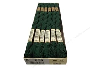 DMC Pearl Cotton Skein Size 5 #500 Very Dark Blue Green (12 skeins)