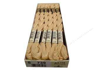 Dimensions Cream/Natural: DMC Pearl Cotton Skein Size 5 #739 Ult Very Light Tan (12 skeins)