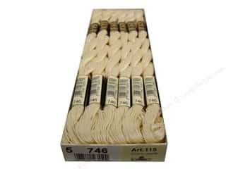 DMC Pearl Cotton Skein Size 5 #746 Off White (12 skeins)