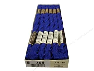 DMC Pearl Cotton Skein Size 5 #796 Dark Royal Blue (12 skeins)