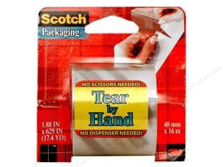 "Glues, Adhesives & Tapes Scotch Tape: Scotch Tape Tear-By-Hand Packaging Clear 2""x 629"""