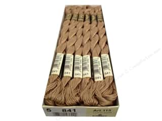 DMC Pearl Cotton Skein Size 5 #841 Light Beige Brown (12 skeins)