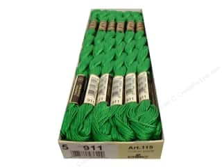 DMC Pearl Cotton Skein Size 5 #911 Medium Emerald Green (12 skeins)