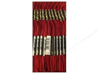 Yarn & Needlework Floss: DMC Six-Strand Embroidery Floss #115 Variegated Garnet (12 skeins)