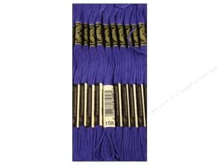 Yarn & Needlework: DMC Six-Strand Embroidery Floss #158 Medium Very Dark Cornflower Blue (12 skeins)