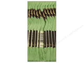 Yarn & Needlework: DMC Six-Strand Embroidery Floss #164 Light Forest Green (12 skeins)