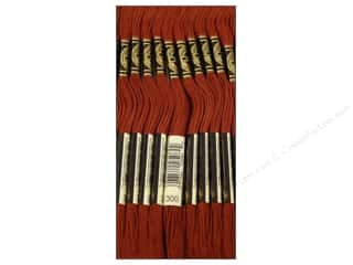 DMC Floss: DMC Six-Strand Embroidery Floss #300 Very Dark Mahogany (12 skeins)