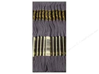 DMC Six-Strand Embroidery Floss #317 Pewter Grey (12 skeins)