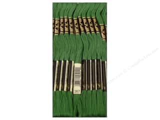 Yarn & Needlework: DMC Six-Strand Embroidery Floss #367 Dark Pistachio Green (12 skeins)