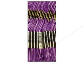 Variegated Floss: DMC Six-Strand Embroidery Floss #52 Variegated Violet (12 skeins)