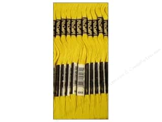 Sewing & Quilting Embroidery Floss: DMC Six-Strand Embroidery Floss #444 Dark Lemon (12 skeins)