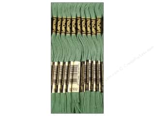 Embroidery Green: DMC Six-Strand Embroidery Floss #502 Blue Green (12 skeins)