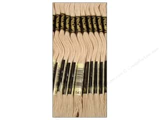 Floss Cream/Natural: DMC Six-Strand Embroidery Floss #543 Ultra Very Light Beige Brown (12 skeins)