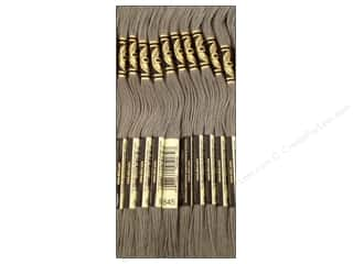 Yarn & Needlework: DMC Six-Strand Embroidery Floss #645 Very Dark Beaver Grey (12 skeins)