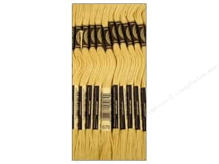 Lights Gold: DMC Six-Strand Embroidery Floss #676 Light Old Gold (12 skeins)