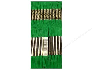 Embroidery Green: DMC Six-Strand Embroidery Floss #699 Christmas Green (12 skeins)