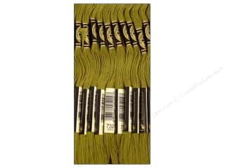 Embroidery Green: DMC Six-Strand Embroidery Floss #732 Olive Green (12 skeins)