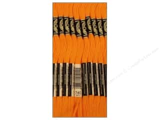 Yarn & Needlework DMC Six Strand Embroidery Floss: DMC Six-Strand Embroidery Floss #740 Tangerine (12 skeins)