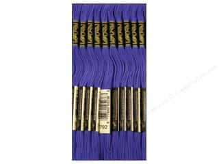 Staple Length: DMC Six-Strand Embroidery Floss #792 Dark Cornflower Blue (12 skeins)