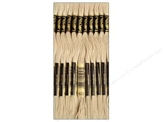 Floss Cream/Natural: DMC Six-Strand Embroidery Floss #822 Light Beige Grey (12 skeins)