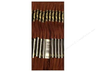 Quilting Brown: DMC Six-Strand Embroidery Floss #898 Very Dark Coffee Brown (12 skeins)