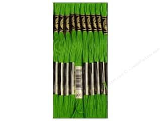 Yarn & Needlework: DMC Six-Strand Embroidery Floss #906 Medium Parrot Green (12 skeins)