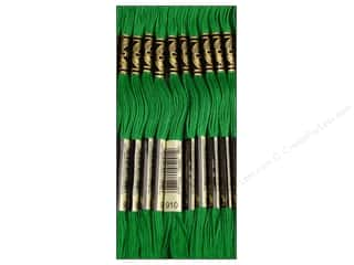 Embroidery Green: DMC Six-Strand Embroidery Floss #910 Dark Emerald Green (12 skeins)