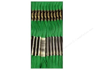 Embroidery Green: DMC Six-Strand Embroidery Floss #911 Medium Emerald Green (12 skeins)